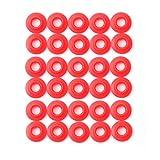 Ferroday Silicone Rubber Grolsch Gaskets Washers for Ez Cap Swing Flip Top Bottle Home Brew Beer Soda Bottle Seal 30pcs(Red)