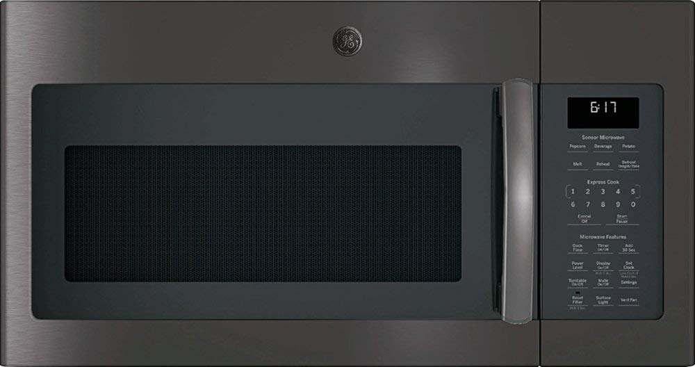 GE - 1.7 Cu. Ft. Over-the-Range Microwave - Black stainless steel by Lucarat