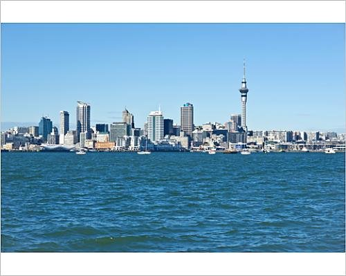 Photographic Print of Auckland Central Business District, Auckland CBD and Skytower viewed - Auckland Cbd Auckland