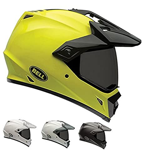Bell Unisex-Adult Off Road Helmet (Solid White, Medium) (MX-9 Adventure D.O.T certified) - Solid Off Road Helmet
