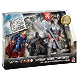 DC Justice League Battle In a Box Batman, Steppenwolf, Superman Figures, 3 Pack Action Figure