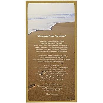 "SJT Enterprises 5"" x 10"" Footprints in the Sand Wooden Sign"