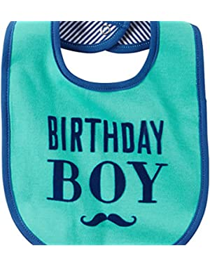 Birthday Boy Mustache Bib