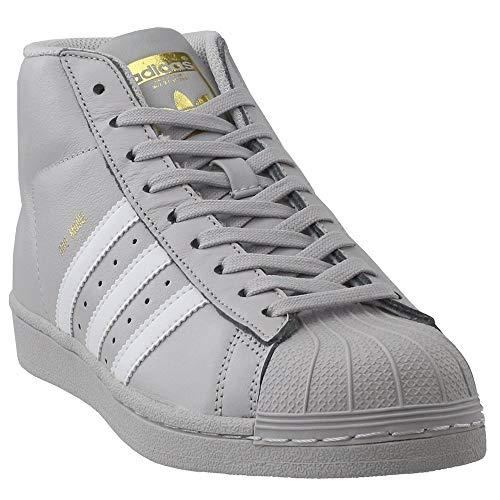adidas Originals Kids Boy's Pro Model (Big Kid) Light Solid Grey/White/Gold 5.5 M US Big Kid