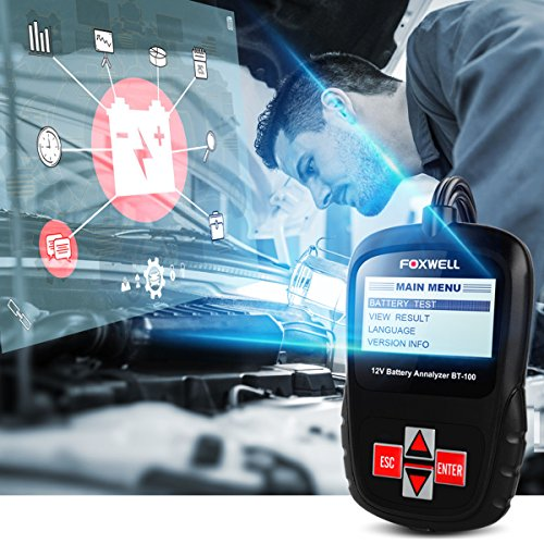FOXWELL FBA_BT100 Pro Battery Analyzer CCA Automotive Battery Load Tester Detect Health Directly 6V/12V 100-1100 by FOXWELL (Image #5)
