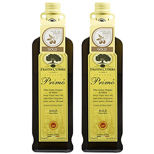 Frantoi Cutrera - Primo - Cold Extracted Extra Virgin Olive Oil, Imported from Italy, 24.5 fl oz - Pack of 2 from Frantoi Cutrera