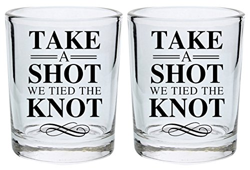 Wedding Gift Shot Glasses Take a Shot We Tied the Knot Marri