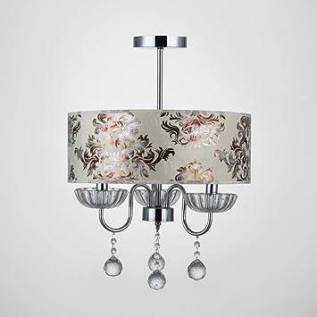 HuiKai Modern Lámpara Araña LED Luz De Techo Simple para Sala de Estar Sala de niños Dormitorio Cocina y Comedor 3 Bombillas(no Incluidas),400 * 580mm: ...