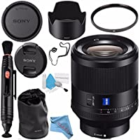 Sony Planar T FE 50mm f/1.4 ZA Lens SEL50F14Z + 72mm UV Filter + Lens Pen Cleaner + Fibercloth + Lens Capkeeper + Deluxe Cleaning Kit Bundle