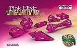 PolyHero Dice: Wizard 7-Dice Set: Pink Elixir