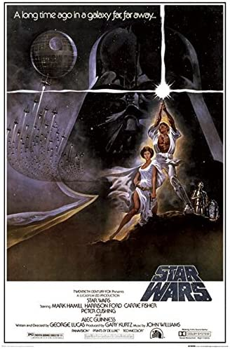 Amazon Com Star Wars Episode Iv A New Hope Movie Poster Print Regular Style A Size 24 Inches X 36 Inches Poster Poster Strip Set Posters Prints