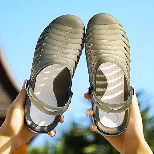 Summer Black YIRUIYA Breathable Slippers Garden Beach Unisex Green Outdoor Walking Clogs Sandals g8C78wx