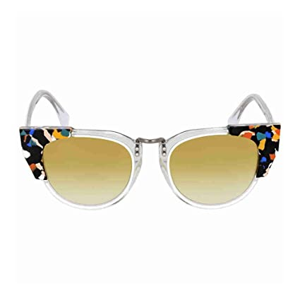 a508ba6cd8af Fendi FF 0074 S Sunglasses RCKSV Transparent Crystal White Marbled Yellow  50 mm  Amazon.ca  Luggage   Bags