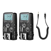 YouPro Pro-7 Wireless Shutter Timer Remote and Flash Trigger 2in1 with DC2 2.5mm PC Sync & Shutter Cable for Nikon D750 D7500 D7200 D7100 D7000 D610 D600 D5500 D5300 D5200 D5100 D3300 3400 3500 Camera