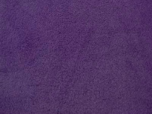 Solid Anti-Pill Polar Fleece; No-Sew Tie Blanket Fabric (Dark Purple)