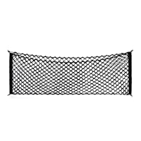 Adjustable Elastic Heavy Duty Cargo Net - Universal Stretchable Truck Net with Hooks | Organizer, Storage, Mesh, Nylon, Bungee | for Car, SUV, Truck, -Black