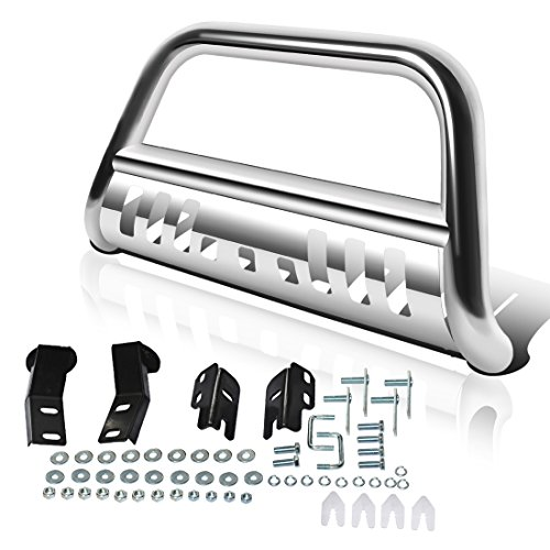 AUTOSAVER88 Bull Bar Compatible for 04-18 Ford F150 Stainless Chrome Bull Bar 3