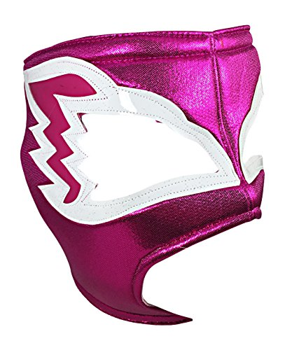 NIGHT HAWK Adult Lucha Libre Wrestling Mask (pro-fit) Costume Wear - Hot Pink -