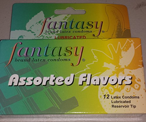 Fantasy Brand Latex Condoms, Assorted Flavors, 12 condoms in a box (Pack of 6) 72 TOTAL CONDOMS