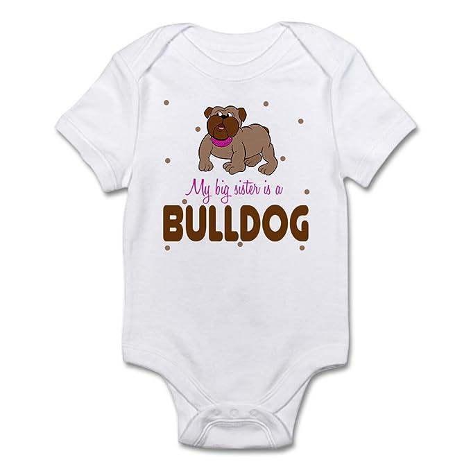 68d76d66e Amazon.com  CafePress My Big Sister Is A Bulldog Baby Cute Infant ...