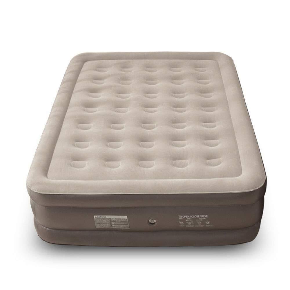 Tragbare Vollmatratze, erhöhte doppelte hohe Luftmatratze for Gäste, Schlag verbesserte kampierende Betten for Erwachsene, aufblasbares Bett 200 * 180 * 40cm im Freienaufblasbares Bett Outdoor-Produkt