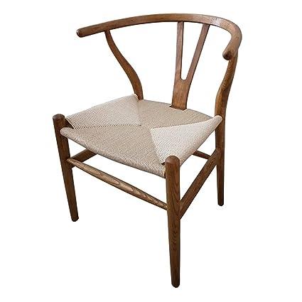 BZEI-Chair Cocina Comedor sillas Silla De Mesa De Madera Maciza De Estilo Chino,