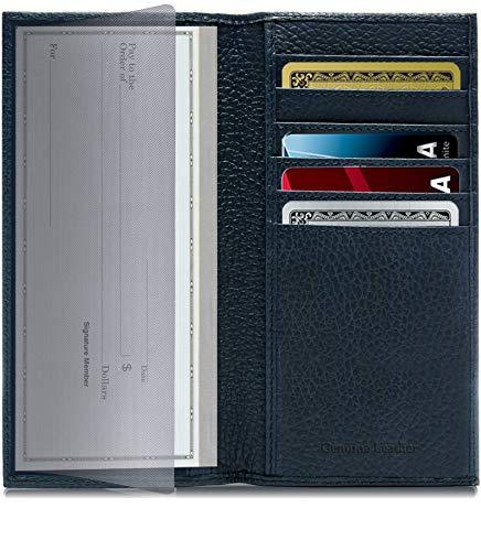 kbook Cover For Women & Men - Checkbook Holder Check Book Covers For Duplicate Checks Card Wallet RFID ()