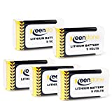 Keenstone 9V 1200mAh Lithium Battery Low Self-discharge ,High Energy Density with PTC Protected, 5-Pack