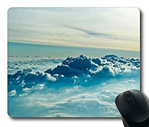 Above Clouds Mouse Pad Oblong Shaped Mouse Mat Design Natural Eco Rubber Durable Computer Desk Stationery Accessories Mouse Pads For Gift by kobestar by ruishername