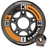 K2 Skate Hi-Lo Wheel with ILQ 7 Bearing (Pack of 8), 80/84mm