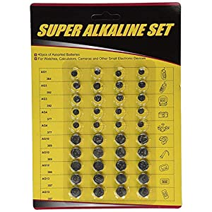 Unique Imports US Digital 40-Pack High Power Assorted Alkaline Button Cell Battery Kit