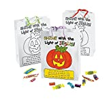 Bargain World Paper Color Your Own Christian Pumpkin Gift Bags (With Sticky Notes)
