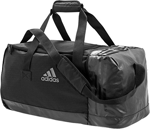 adidas 3 Stripes Team Bag, Black/Black/Vista Grey, Medium