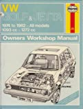 img - for VW Owners Workshop Manual Golf & Jetta (petrol) book / textbook / text book
