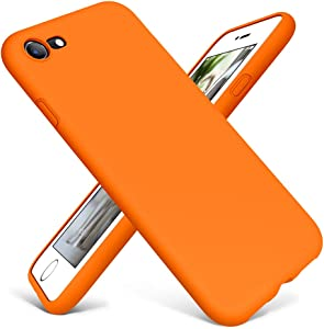 DTTO iPhone SE Case 2020,iPhone 7 8 Silicone Phone Case, [Romance Series] Shockproof Anti-Drop Phone Case with Honeycomb Grid Cushion for Apple iPhone 7/8/SE 2020, 4.7 inch, Orange