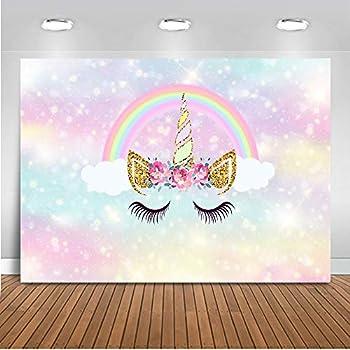 amazoncom aofoto 6x4ft cute unicorn happy birthday