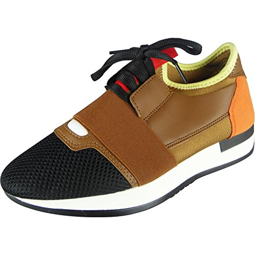Ladies Running Fitness Gym Sports Lace Up Shoes 3-8 Camel uOZWkmq2hQ