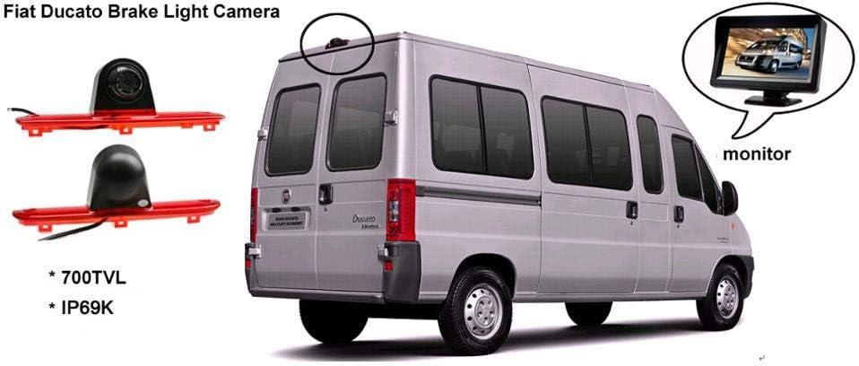 HD Impermeable del IR de Vision Nocturna Camara de Vista Trasera, Tercera luz de Freno para Citroen Jumpy, Peugeot Expert, Toyota proace 2007-2016: Amazon.es: Electrónica