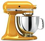 KitchenAid KSM150PSYP Artisan Series 5-Quart Stand Mixer, Yellow Pepper