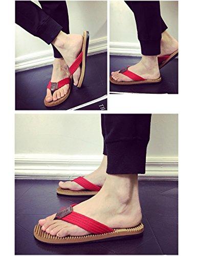 The Slipper Company Summer Braided Belt Men Trend Sandals Beach Shoes Non-Slip Flat Trash 2 d1QeDKRze3