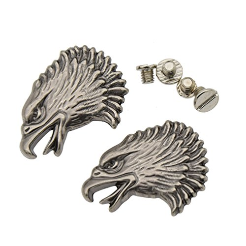 Star Horseshoe Conchos Leather Craft Rivet Studs Screw Back Eagle Buttons 2Pcs