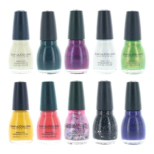 Sinful Colors Finger Nail Polish Color Lacquer Set 10-Piece Collection (Glorious) ()