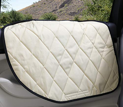 4Knines Dog Car Door Cover for Cars, Trucks and SUVs - USA Based Company - Two Door Guards (One for Each Side) (Tan) (Best Car Cover Company)