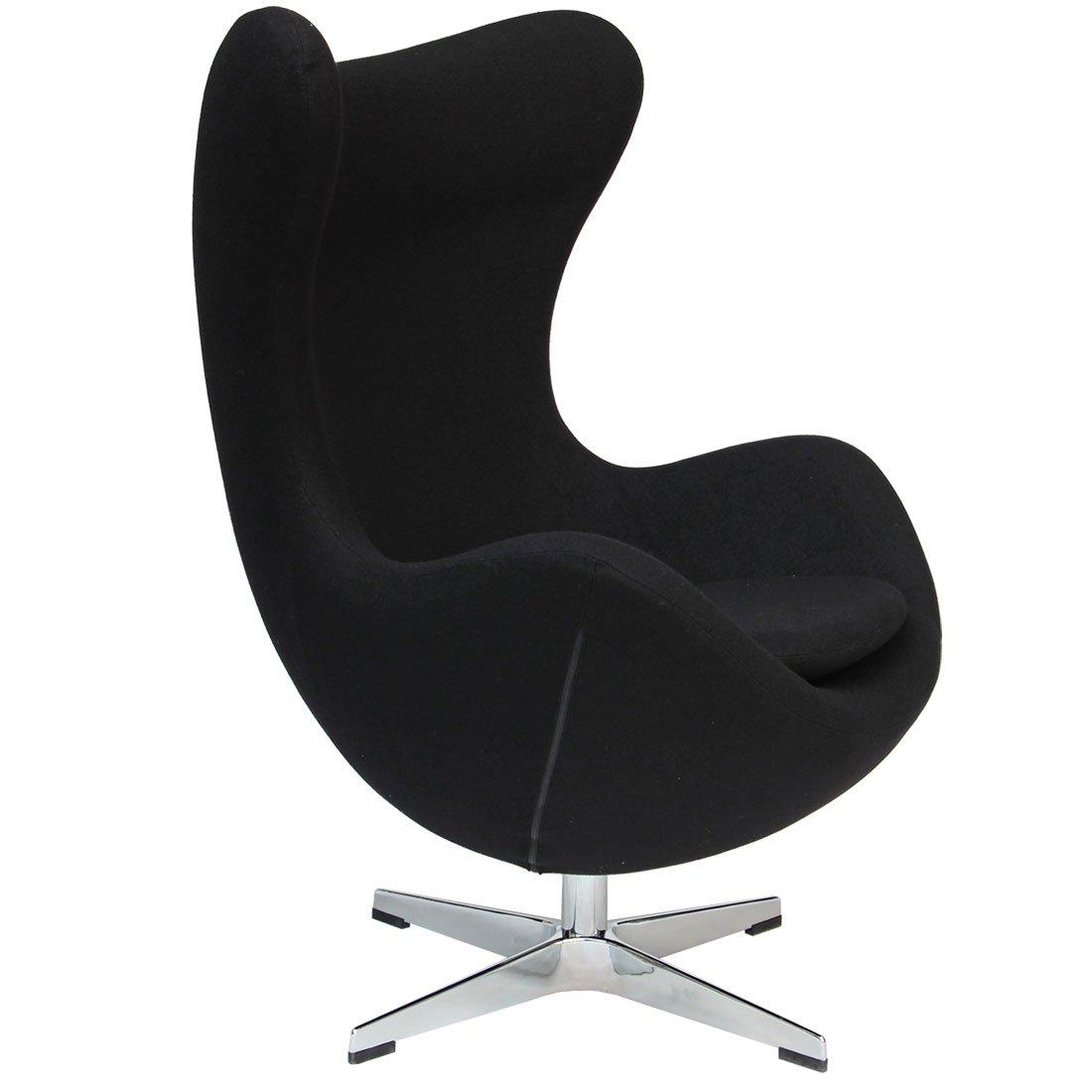 タンスのゲン エッグチェア Arne Jacobsen リプロダクト デザイナーズチェア ブラック 48300003 02 B073PXNR7S エッグチェア|ブラック ブラック エッグチェア