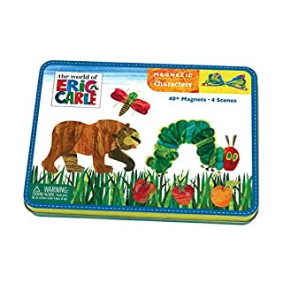 Mudpuppy Eric Carle The Very Hungry Caterpillar and Friends Magnetic Character Set– Ages 3+ - Magnetic Play Set with 4 Scenes, 40+ Magnets – Great for Travel, Quiet Time–Magnets Adhere to Tin Package