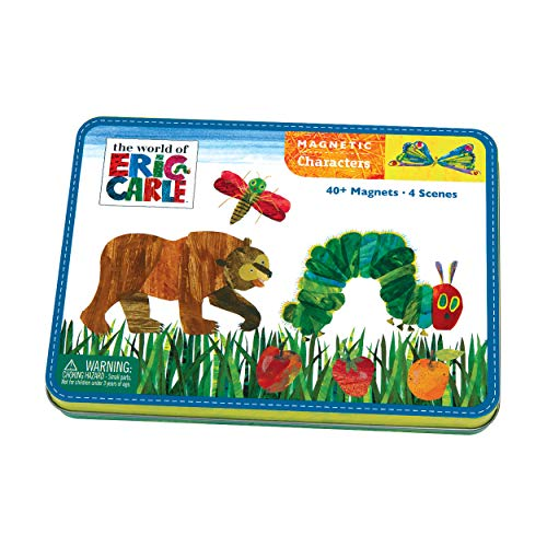 Mudpuppy Eric Carle The Very Hungry Caterpillar and Friends Magnetic Character Set- Ages 3+ - Magnetic Play Set with 4 Scenes, 40+ Magnets - Great for Travel, Quiet Time-Magnets Adhere to Tin Package ()