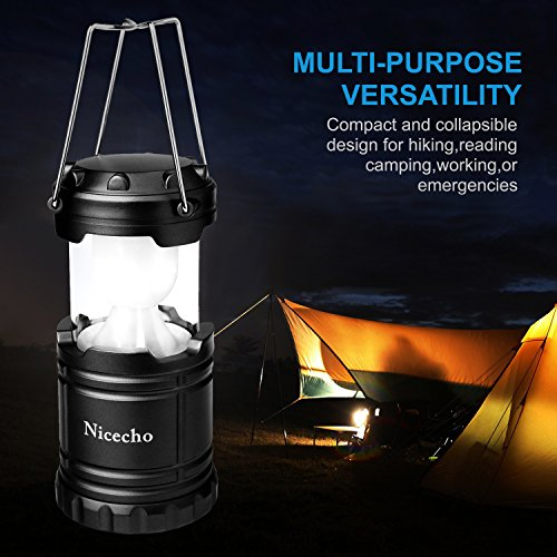 OTYTY 2 Pack Collapsible LED Camping Lanterns, Flashlights Emergency Tent Light For Backpacking, Hiking, Fishing Outdoor Portable Lighting Camping Equipment