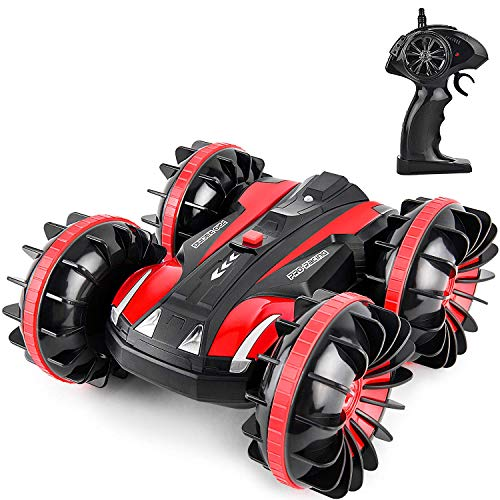 GotechoD Remote Control Car Boat for Boys, Offroad RC Car 4x4 RC Truck Waterproof Remote Control Truck Stunt Car Radio Controlled Vehicle RC Electric Cars for Boys Toys 5-16 Years Old Kids Gift Red (The Best Radio Controlled Cars)