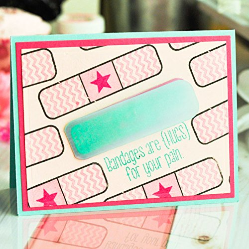 Get Well Soon Clear Rubber Stamps for Scrapbooking and Card-Making by The Stamps of Life Words4Bandages Sympathy