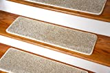 Dean Ultra Premium Stair Gripper Non-Slip Tape Free Pet Friendly DIY Stainmaster Nylon Carpet Stair Treads/Rugs 30'' x 9'' (15) - Color: Beach Party Beige